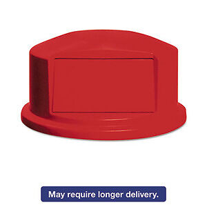 Rubbermaid Round Brute Dome Top w/Push Door - RCP264788RED