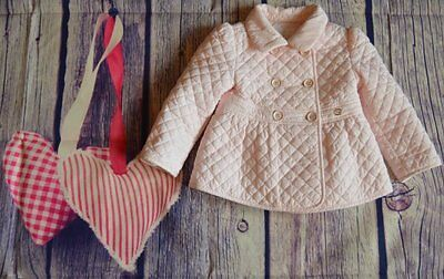Gucci Baby Girls Designer Romany Luxury Pink Coat 9-12-18 Months Worn 2-3 Times