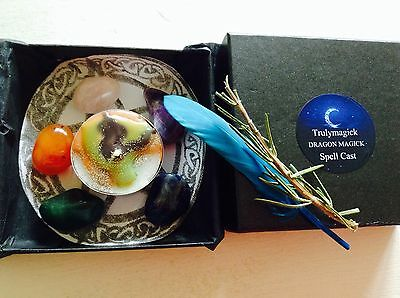 PROTECTION Spell kit SUPER FULL MOON SPELL~Wicca Witchcraft PAGAN DRAGON ENERGY