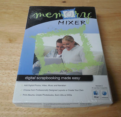 New Old Stock Memory Mixer Digital Scrapbooking Version 2 Factory Sealed