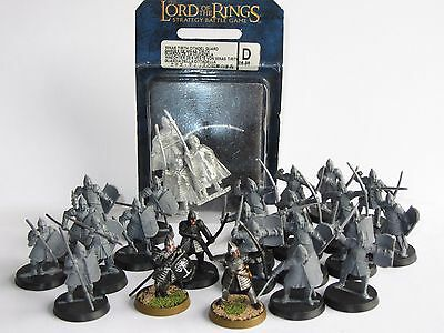 Games Workshop Lord of the Rings Gondor Army with Minias Tirith Citadel Guard