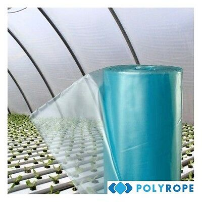8m WIDE CLEAR POLYTHENE SHEETING COVER UV4 GREENHOUSE FOIL HORTICULTUAR MEMBRANE