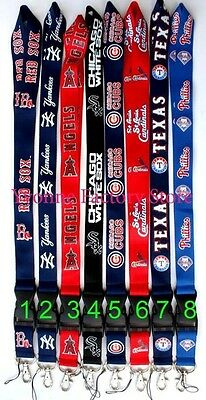 Heavy Duty MLB Baseball Teams Lanyard ID Card Badge Holder Keychain