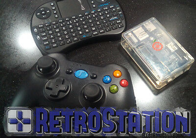 Retro Station Arcade Machine Emulator, Pi Mame kodi, 2x wireless gamepads remote