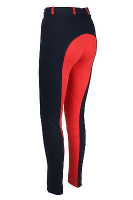Ladies Jodhpurs Jodphurs Horse Riding Pants Soft Stretchy NAVY RED All Size