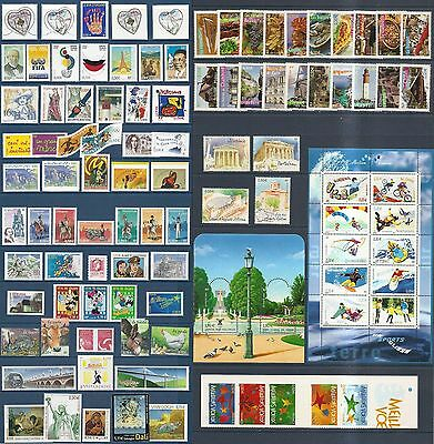 2004 FRANCE ANNEE COMPLETE 100 Timbres NEUFS** du N° 3632 au N° 3730 LUXE MNH