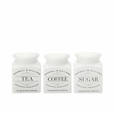 NEW Maxwell & Williams Cottage Kitchen Canister 0.5L Set of 3