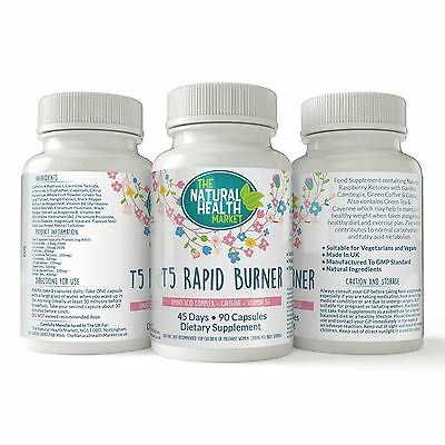 T5 Rapid Fat Burner • Balanced Slimming Weight Loss Pills • Energy And Diet Aid