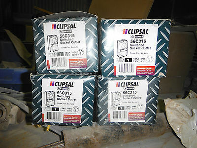 Clipsal 56C315 socket outlet-Chemical Resistant Orange-price lowered