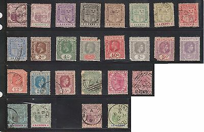 (U11-13) 1860-1967 Mauritius mix of 73 stamps values to 1R (A)