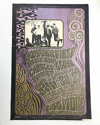 AUTHENTIC Original Tape 1967 POSTER BG-#46 BUTTERFIELD BLUES BAND GD+ WES WILSON