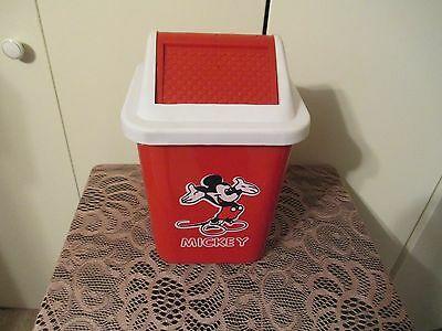 Mickey Mouse Trash Can Swing Lid Cute
