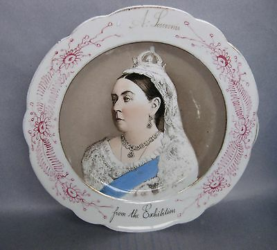 Antique QUEEN VICTORIA 'From the Exhibition' PLATE 1887 Newcastle