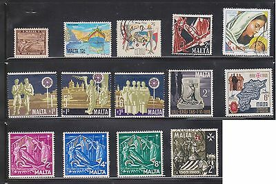 (U11-6)1899-2001 Malta mix of 45 stamps values to 2/6d (F)