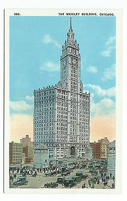 The Wrigley Building, Chicago,  Unused Vintage Postcard