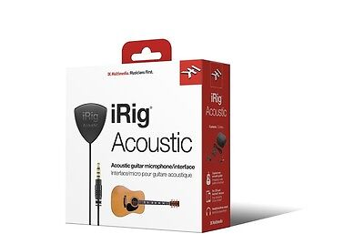 IK Multimedia iRig Acoustic acoustic guitar microphone/interface for iPhone, iOS