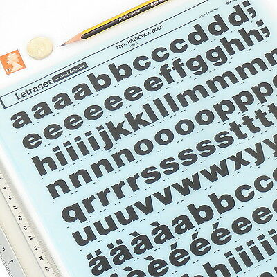 Letraset HELVETICA BOLD 2675 72pt LowerCase Rub On Transfer Lettering+%DISCOUNTS