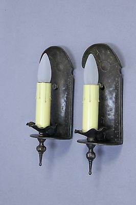 Pair 1930s Monterey Period Single Light Sconce Antique Rancho Lighting (9992)