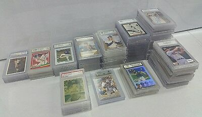 HUGE LOT OF 107 GRADED Baseball Cards Rookies Autos Bonds McGuire PSA & MORE