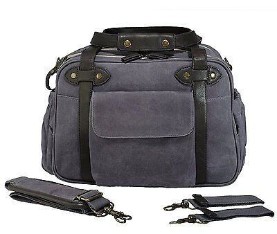 SoYoung Charlie Baby Diaper Bag - Waxed Charcoal. Free Shipping