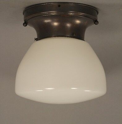 1930s School House Ceiling Flush Mount Antique Light Vintage Lighting (9983)