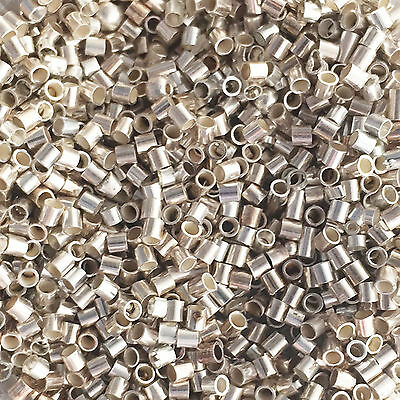 25 x Sterling Silver Crimp Beads 2mm x 2mm
