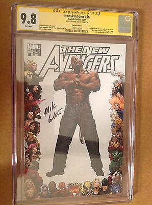 CGC 9.8 SS New Avengers #56 Variant cover signed by Mike Colter Luke Cage