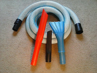"10' x 1.5"" Vacuum Hose & Tools - Fits most Craftsman Ridgid & Shop Vac WBK-10"