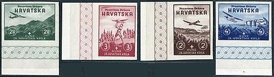 Cr478. Croatia Aviation Exposition Stamps For Croatian Wings Society Proofs 1941