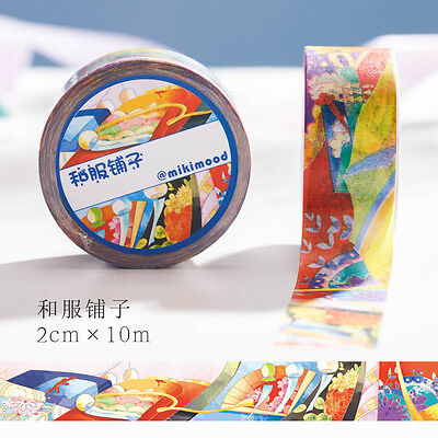 Japanese kimono clothes flowers Washi paper Masking Tape stickers label Decal