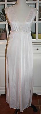 Vintage 70's JCPenney Nightie Night Gown Pink Lace Size Medium 36