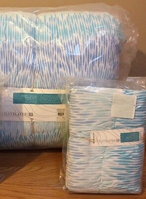 NEW Pottery Barn Teen Kelly Slater Organic Trestles Ruched FULL QUEEN Quilt Sham