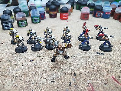 Blood Bowl; Human Team; Riekland Reavers Well Painted w/ Morg n Thorg and Decals