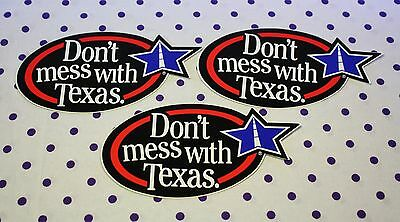 Set of 3 DON'T MESS WITH TEXAS Window Bumper Stickers TX Decals Lone Star State
