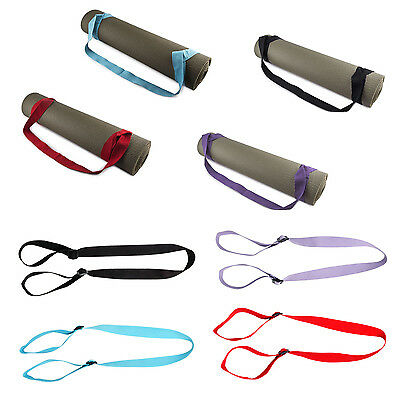 New Yoga Fitness Gym Pilate Mat Super Thick Nylon  NonSlip with Carry Strap Belt