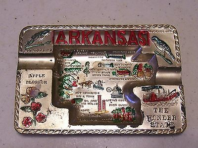 Souvenir Metal Ash Tray - Arkansas