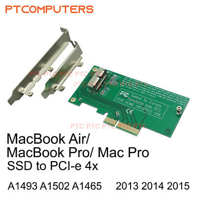 Apple MacBook  Air 16+12 SSD to PCIE PCI-e  Converter 2013/2014/2015
