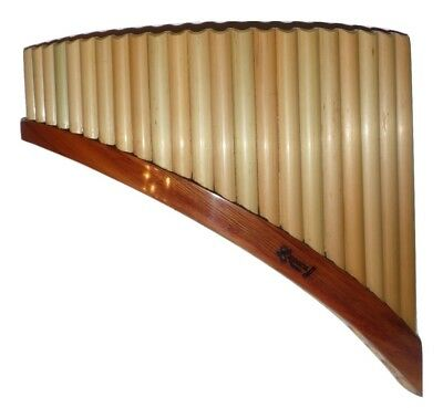 Professional Left Handed Bamboo 22 Pipes  Pan Flute | Luthier: Nestor Lupaca