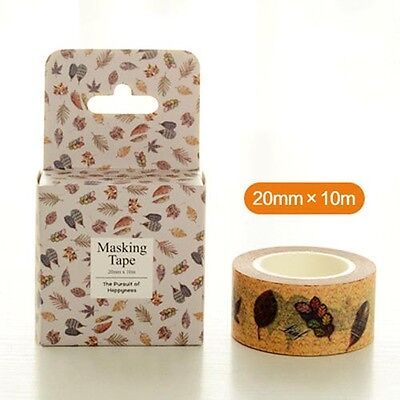vintage leaves feather Washi paper Masking Tape Scrapbooking Decal sticker label