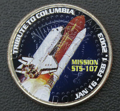 2007-P Kennedy Colorized Half Dollar - Space Shuttle Columbia Mission Tribute