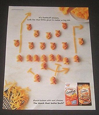 Pepperidge Farm Lot of 7 Ads Goldfish Snack Crackers Kitchen Decor MAGAZINE ADS