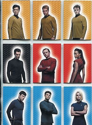 Star Trek Movies 2014 Into Darkness Complete Fold Out Chase Card Set F1-F9