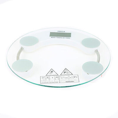 Electronic Digital Bathroom Body Weight Scale Tempered Glass with Inner Battery