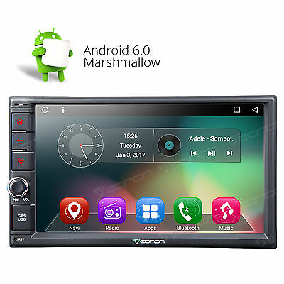 """US GA2162 Double Din 7"""" Head Unit Android 6.0 OS Car Stereo 1024x600 GPS Touch A"""