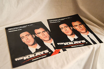 2 THE KRAYS Vintage cinema campaign press kit, book + exploitation manual.