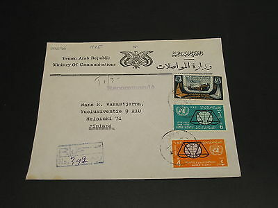 Yemen 1971 registered cover to finland *20296