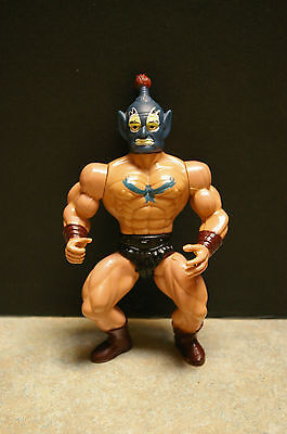 Vintage 1983 'sungold/remco' 'galaxy Warriors' Blue Face Wrestler Action Figure