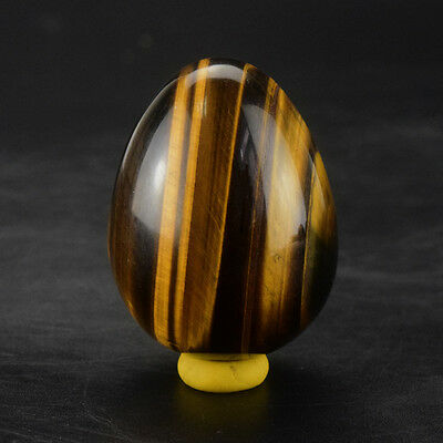 45x35mm Undrilled Natural Tiger Eye Eggs Gemstone Sphere Yoni Egg Kegel Exercise