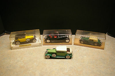 Vintage Lot Of 4 Solido 1:43 Scale Diecast Cars