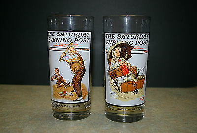 1987 Arby's 'summer Scenes Collection' Lot Of 2 Glasses